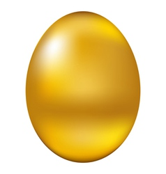 Golden egg vector