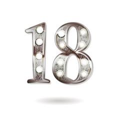 18 years anniversary celebration design vector