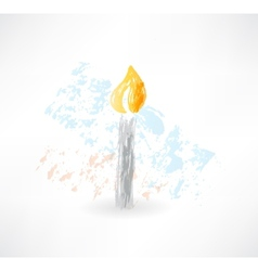 Candle grunge icon vector