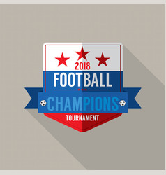 2018 football champions badge vector