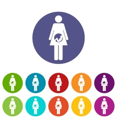 Pregnancy flat icon vector