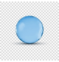 3d crystal glass blue sphere ball isolated vector