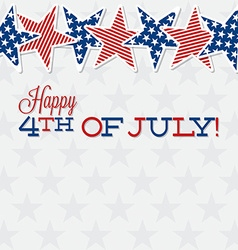 Line of stars independence day card in format vector