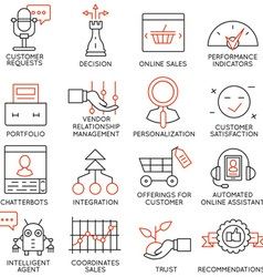 Set of icons related to business management - 15 vector