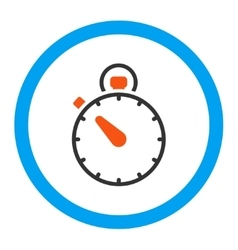 Stopwatch rounded icon vector