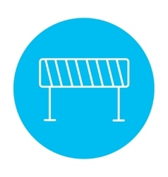 Road barrier line icon vector