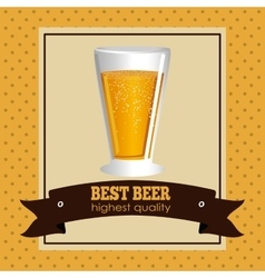 Cold beer design vector