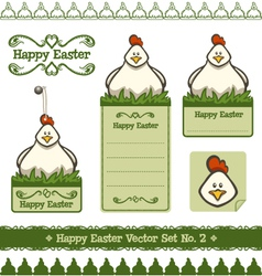 Happy easter set no 2 vector