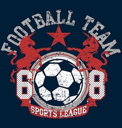 Soccer football sports league team with unicorns vector
