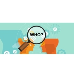 Who question mark business concept decision vector