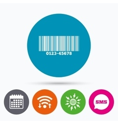 Bar code sign icon scan code symbol vector