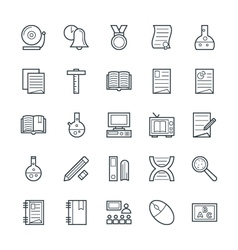 Education cool icons 5 vector
