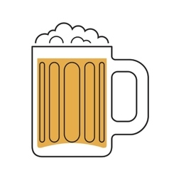 Beer mug icon vector image