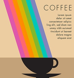 Coffee Cup Rainbow vector image