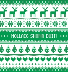 Nollaig shona duit - merry christmas in irish vector
