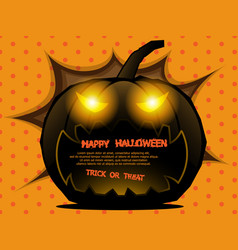 abstract pumpkin halloween background vector image vector image