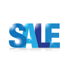 blue sale sign vector image