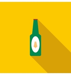 Bottle of beer icon flat style vector image vector image