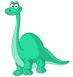 Brontosaurus dinosaur vector