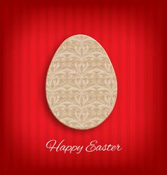 cardboard easter egg vector image