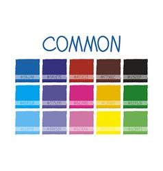 Common Color Tone vector image vector image