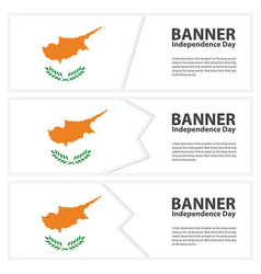 Cyprus flag banners collection independence day vector
