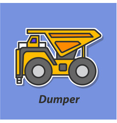 Dumper color flat icon vector