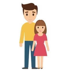 Father and daughter family design vector