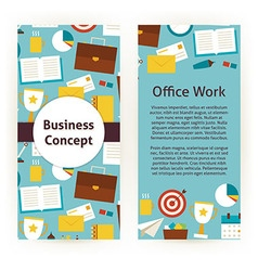 Flyer template of flat design business concept and vector