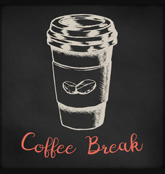 hand drawn sketch - coffee vector image