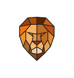 head of a lion logo template for business vector image