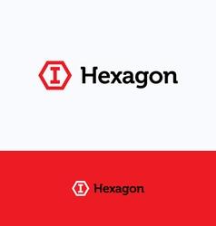 Hexagon cube logo vector