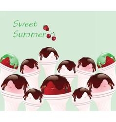 Ice Cream Background vector image