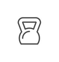 Kettlebell line icon vector
