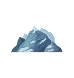 Mountains with glaciers outdoor design element vector