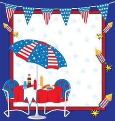 Patriotic picnic vector