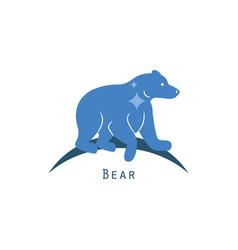 polar bear logo concept vector image vector image