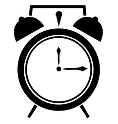 Retro clock alarm clock icon eps 10 vector