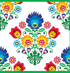 seamless folk art pattern - polish traditio vector image vector image