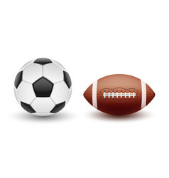 Set of sports balls balls for soccer and vector