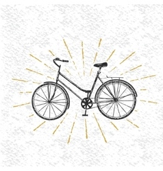 Sign of bicycle vector image