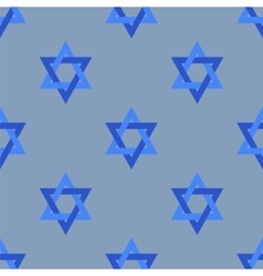 Stars of david isolated seamless pattern vector