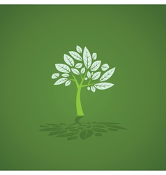 Tree and leaf graphic vector image vector image