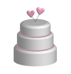 Wedding cake in 3d vector