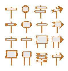 Wooden signboards wood arrow sign vector