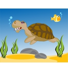 Sea terrapin in water vector