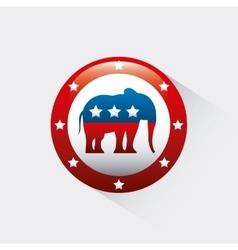 Republican political party animal vector