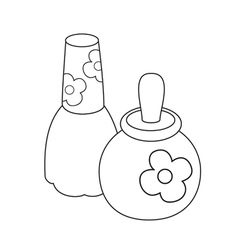 Toy perfume bottles vector image