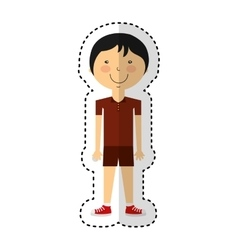Athlete avatar character icon vector