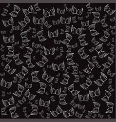 angel wings black seamless pattern vector image